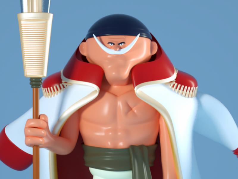 shirohige maya one piece pirate fanart character doodle 3dmodel 3d c4d
