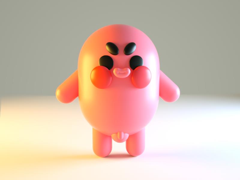 hi there 3d model illustration maya octane render 3d c4d funny character