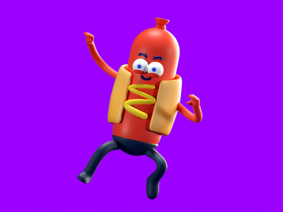 hot dog🌭 hot dog fast food hotdog illustration character 3d food