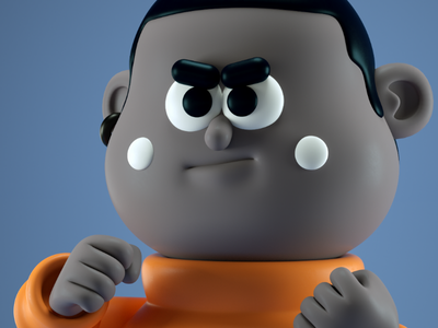 joe troubles fight character 3d cartoon cute funny