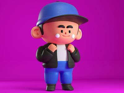 the kid draw design render c4d character 3d kawaii cute