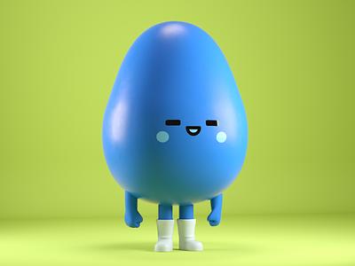 gota japan simple cute character 3d water kawaii
