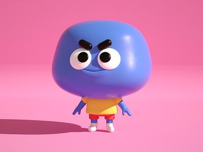 happy kid cuteillustration render3d c4d characterdesign toon funny cute