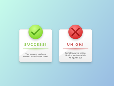 Daily UI: #011 - Flash Message