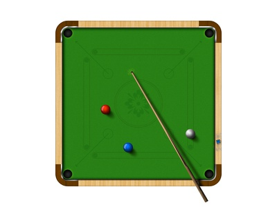 Lets Play - A New Game justforfum cloth carrom cue wood graphic ball snooker shine game design
