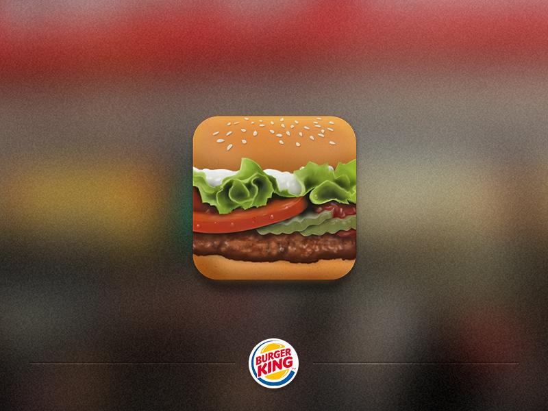Burger App Icon yummy burger king icon