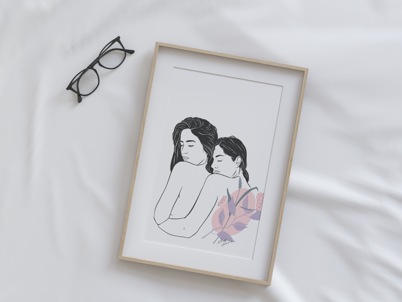 Commissioned illustration digitalart feminist boobs feminine women in illustration minimal illustration