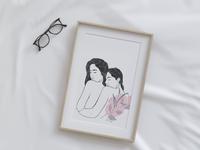 Commissioned illustration digitalart feminist boobs feminine women in illustration minimal illustration