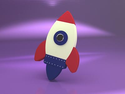 3D Spaceship icon | UI/UX adobe max blender design designer life animation in adobe xd adobe xd ui ux dailychallenge 3d ui 3d icon 3d