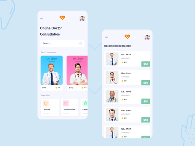 Online Doctor Consultation App | By Mitul Gajjar animation in adobe xd designer life creative app resposive mobile app ux writing doctor app ux from google ui deisgner life appointment booking doctor doctor clinic app doctor consultation app adobe xd dailychallenge ux ui