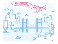City Illustration - Dribbble Debut