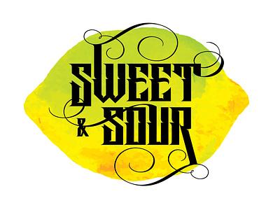 Sweet & Sour typography type logotype logoinspirations logo identitydesign identity branding brandidentity brand