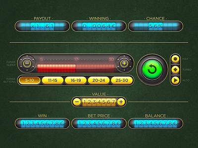 Dice Game Interface ui ux spin slots skeuomorph interface game design betting bet