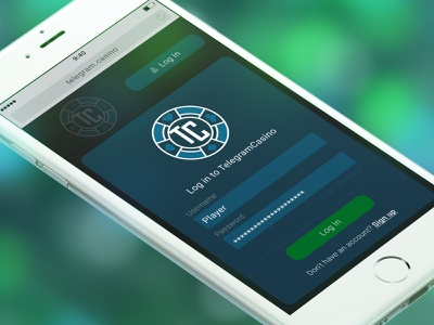 TelegramCasino casino webdesign web ui ux