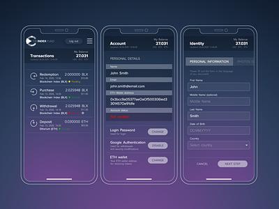 TheIndex.Fund cryptocurrency ui ux design webdesign web