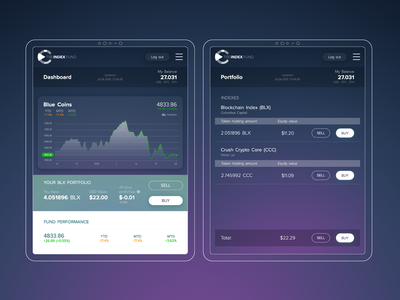 TheIndex.Fund web webdesign design ux ui cryptocurrency