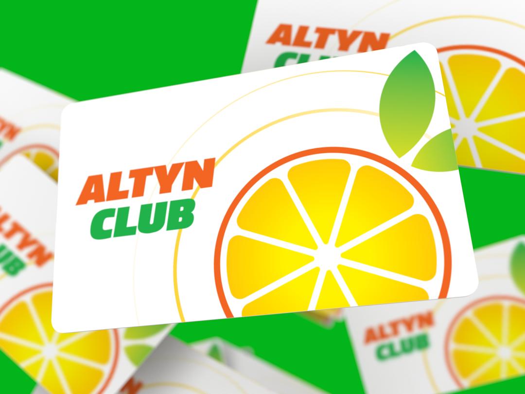 Altyn Food flat logo design identity branding