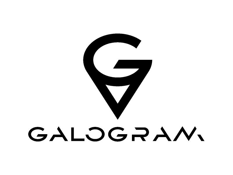 GALOGRAM icon flat simple type logo branding brand identity