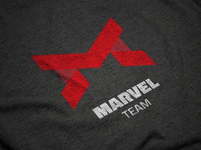 MARVEL TEAM typography type logotype logo branding brand identity brand
