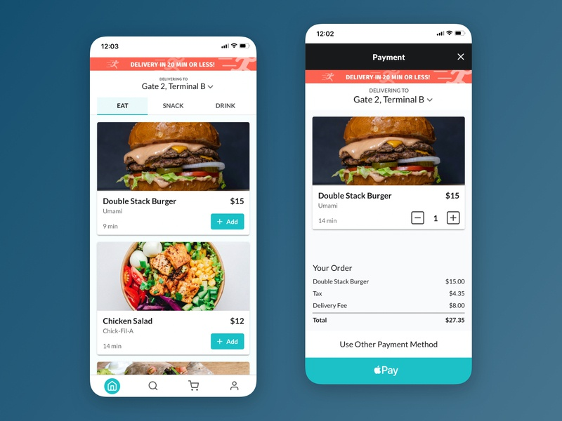 Airport Food Delivery App