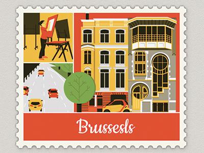 Work/Life 3 illustration brussels personal uppercase worklife 3 orange weimar map travel montréal paris
