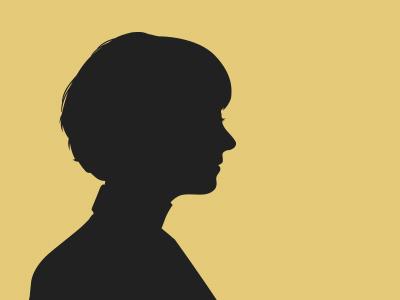 Portrait illustration simple portrait silhouette shadow
