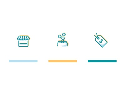 Icons illustration web icons label pricing money coins market