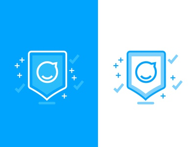 Security Icon for Staffbase simple lines blue security staffbase illustration icon