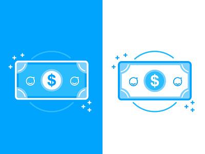 Make or Buy Icon for Staffbase note dollar simple lines blue money staffbase illustration icon