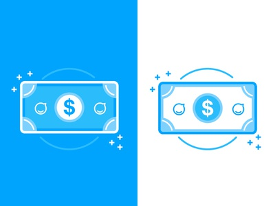 Make or Buy Icon for Staffbase note dollar simple lines blue money staffbase illustration icon