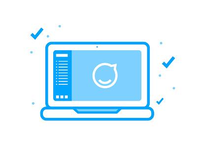 Demo Icon for Staffbase icon dashboard demo staffbase laptop blue illustration