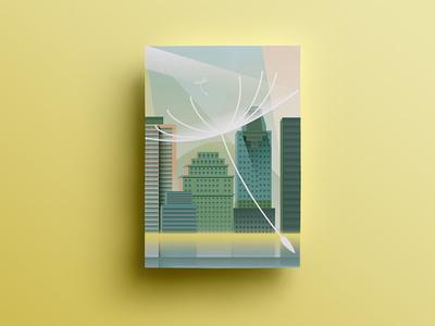 Montreal Postcard buildings montreal city illustration