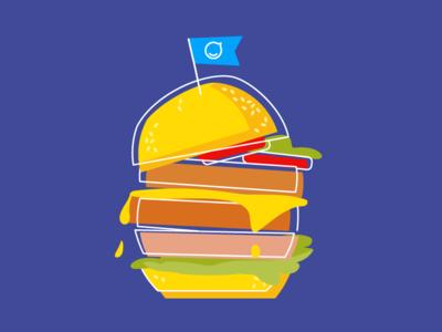 Hungry? burger editorial staffbase illustration