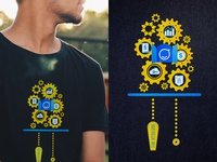 Operations Team – Running like a clock work t-shirt design clockwork icons staffbase illustration