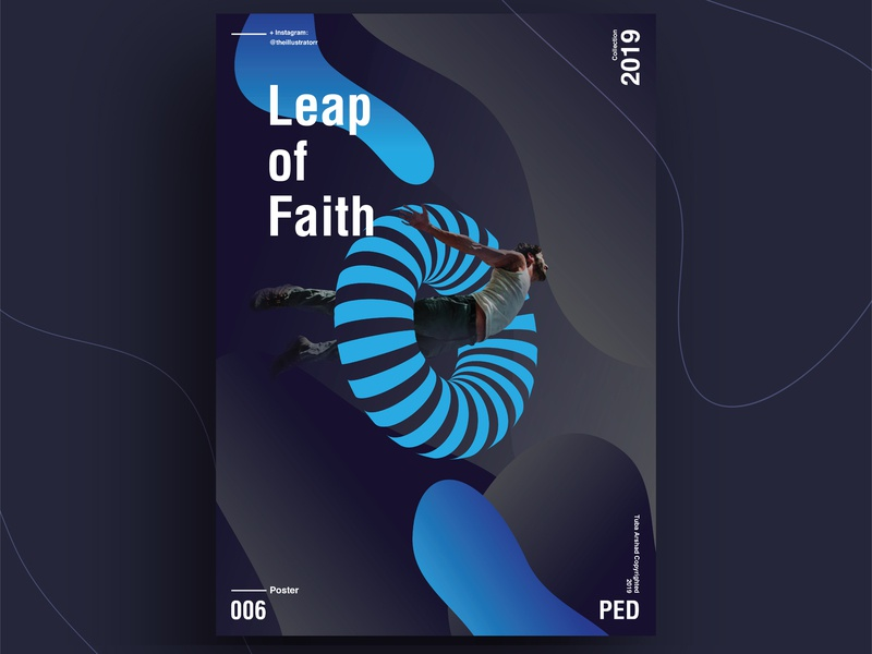 Leap of Faith poster challenge poster a day designer typography poster vector poster art design