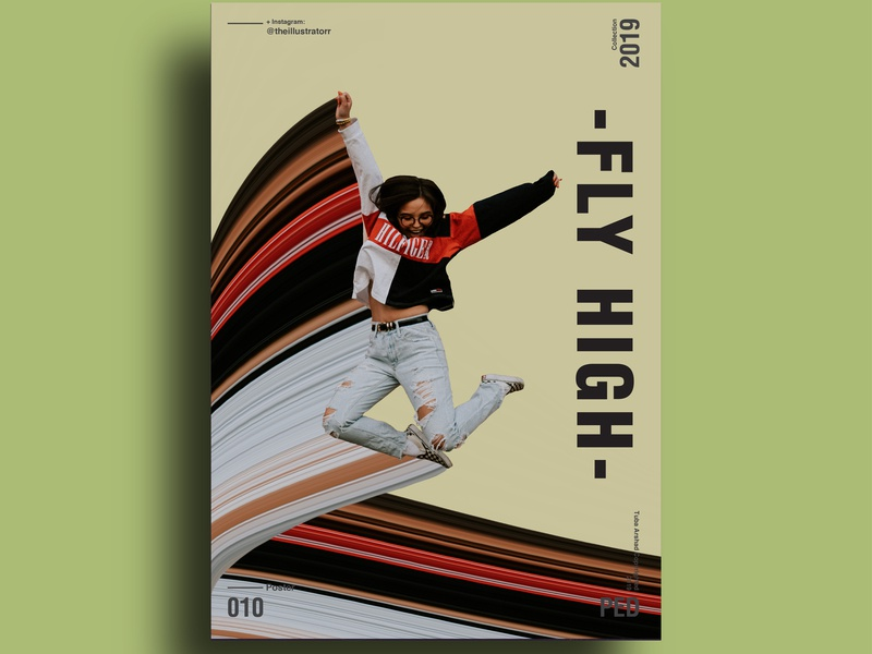 Fly High print photoshop advertise copywriting illustration poster challenge poster a day designer vector typography poster poster art design
