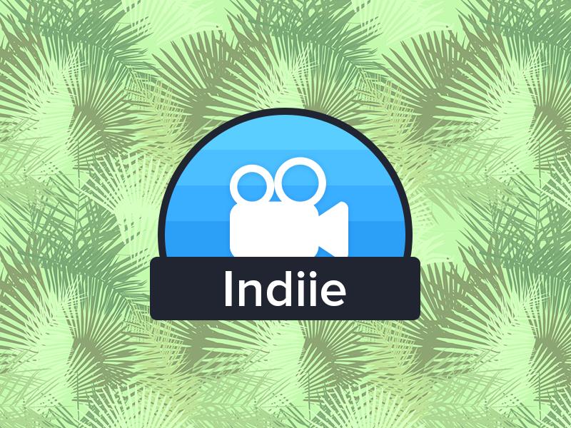 Indiie Logo design branding black blue app indie logo