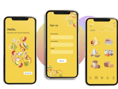 Food adobe photoshop adobe xd typography vector branding illustration design dribble application ux user interface ui adobe