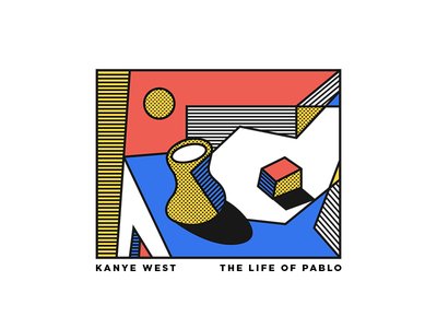 The Life of Petey Pablo typography illustration abstract still life simple life of pablo kanye west album cover art