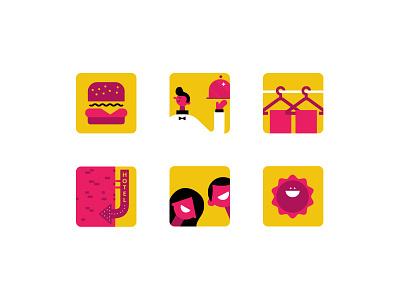 Icons that ppl hate simple web design graphic design flat burger fun branding ui design illustration icons