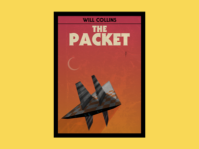 The Packet adventure space retro sci-fi book cover typography design illustration