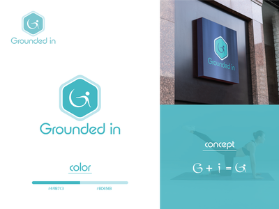 Grounded In logo eyecatchy professional health logo natural ux ui logotype identity corporate branding graphic vector brand identity sign design branding brand logo design mentalhealth yoga logo