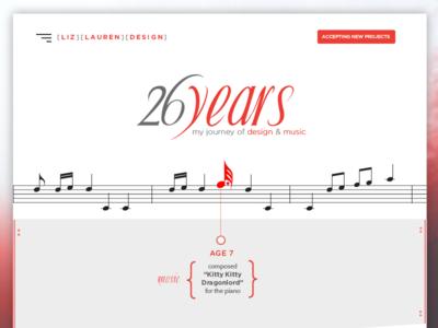 26 Years of Design & Music ui design music photoshop homepage