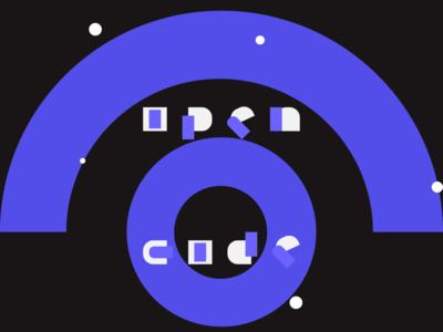 Opencode Poster modern art opencode typography art flat vector illustration creative adobe illustrator