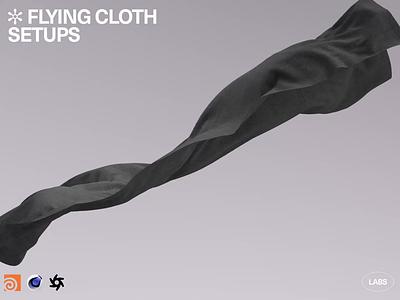 HM LABS 002: Flying Cloth Setups [Houdini / C4D / Octane] simulation cloth vellum octanerender octane cinema4d c4d sidefxhoudini houdinifx houdini freebie motiondesign animation