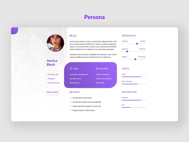 Persona Design mobile ui mobile app mobile design user experience creative design branding elegant user interface user persona ux design ui design ux ui