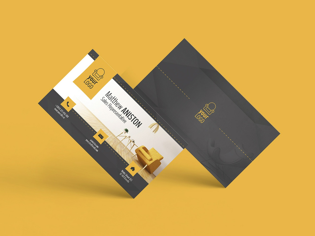Furniture Business Card By Arkadio Janik On Dribbble