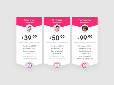 Pricing Tables design