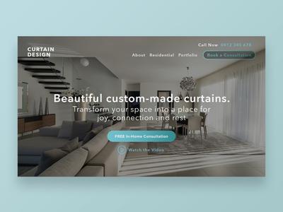 Website Design for Custom Curtains