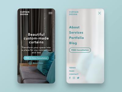 Mobile UX & Website Design for Curtain Designer